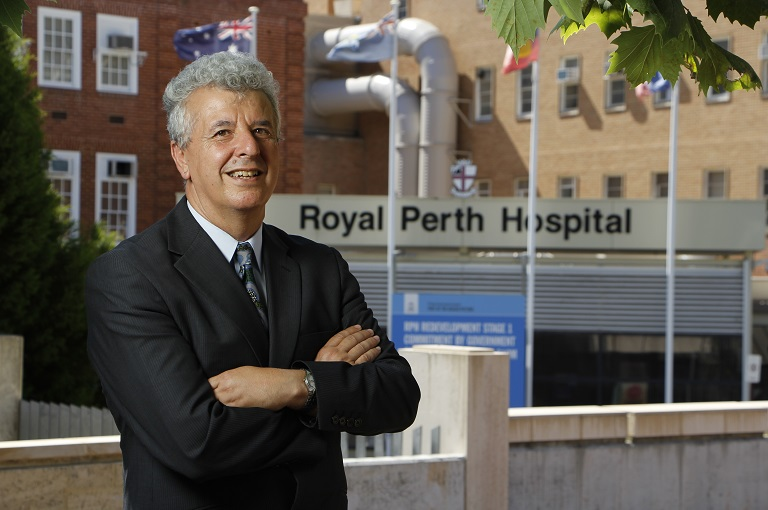 Professor Leon Flicker outside Royal Perth Hospital