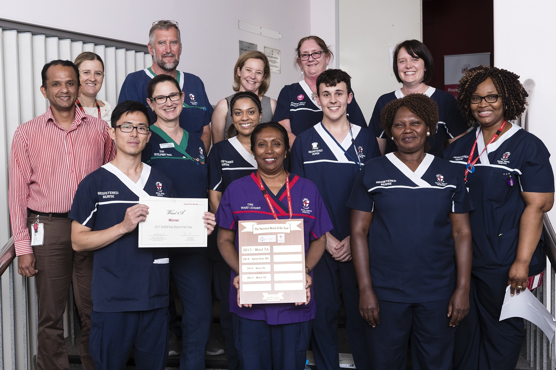 Photograph of 2017 RPBG Nursing Awards winners