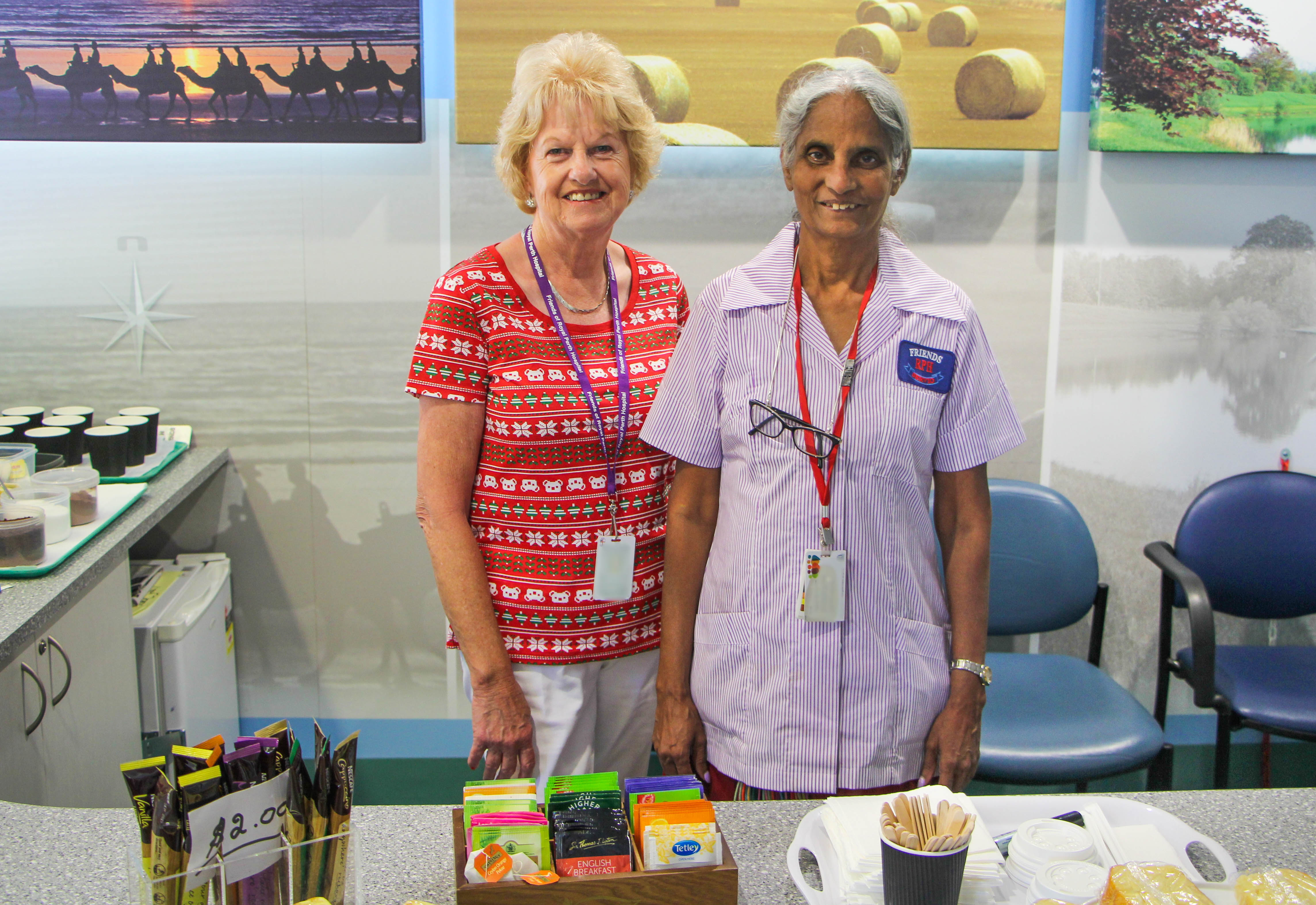 Photograph of Outpatient Kiosk staff