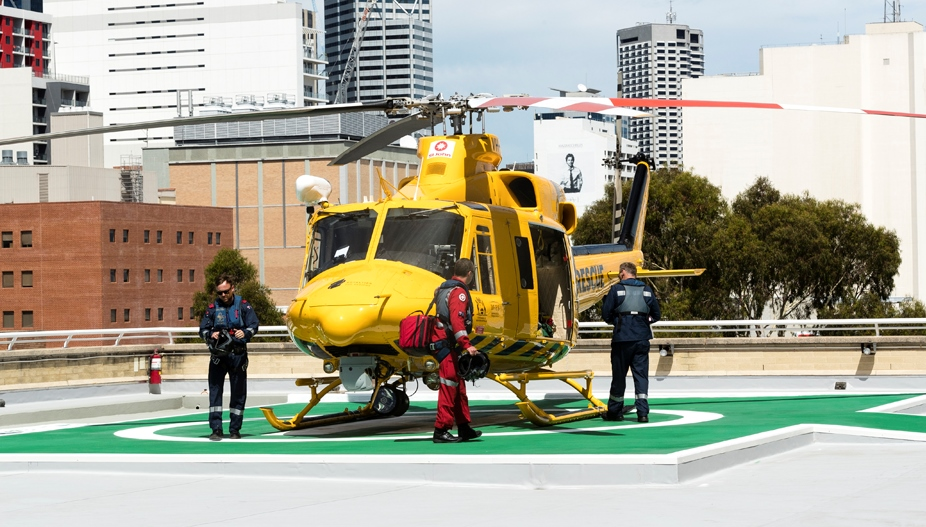 Photograph of trauma helicopter